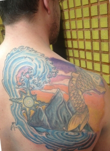 My tattoo in progress (c.2013)